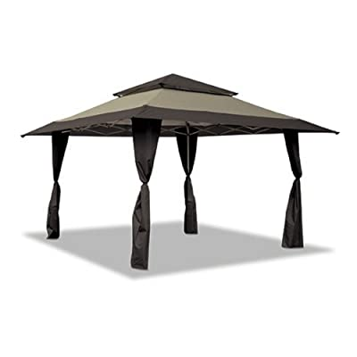 Z-Shade Replacement Canopy Top Cover Only Black/Khaki 13x13 Gazebo Cover for Standard Frame Model #ZS1313PRETNB150D - 150D Polyester Fabric (Top Cover Only-No Frame) NOT for Auto Extension Poles: Garden & Outdoor