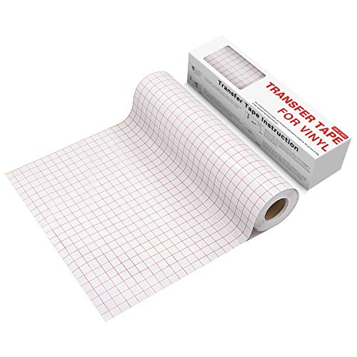 YRYM HT Clear Vinyl Transfer Paper Tape Roll-12 x