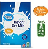 Great Value Instant Nonfat dry Milk fortified with Vitamin A & D 3.2 Oz. pouch