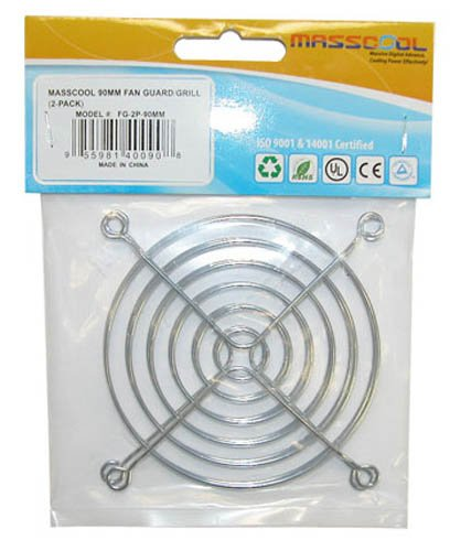 MASSCOOL 80mm Cooling Fan Guard/Grill, Pack of 2 (FG-2P-80MM) by MassCool