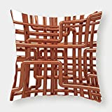 iPrint Microfiber Throw Pillow Cushion Cover,Copper Decor,Knot of Copper Pipes Complex Entangled Lines Hardware Industry Inspired Decorative,Bronze White,Decorative Square Accent Pillow Case