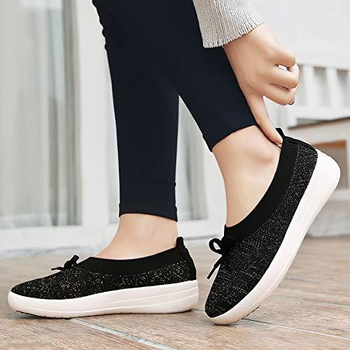 ZHRUI Rosado Negro Color Zapatos EU tamaño 41 YErEz7