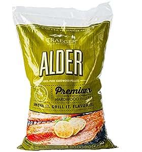 Traeger Grills Alder 100% All-Natural Hardwood Pellets - Grill, Smoke, Bake, Roast, Braise, and BBQ (20 lb. Bag)