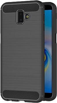 AICEK Funda Compatible Samsung Galaxy J6 Plus, Negro Silicona Fundas para Samsung J6+ Carcasa Galaxy J6+ Fibra de Carbono Funda Case (6,0 Pulgadas): Amazon.es: Electrónica