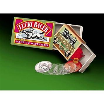 Cajas de cerillas rusas + moneda firmada - Juego de Magia: Amazon.es: Juguetes y juegos
