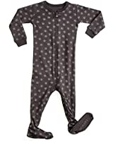 Leveret Organic Cotton Snowflake Footed Sleeper...