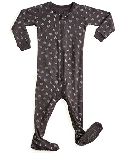 Leveret Organic Cotton Snowflake Footed Sleeper Pajama (6-12 Months)