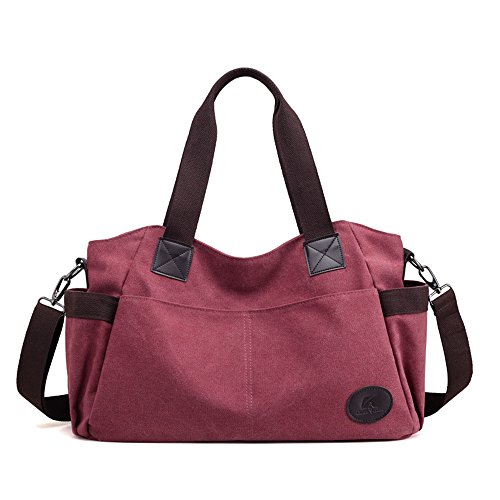 Coffee Meaeo Dama Brown Bolso Purple De Lienzo La Nuevo OrpaOq8