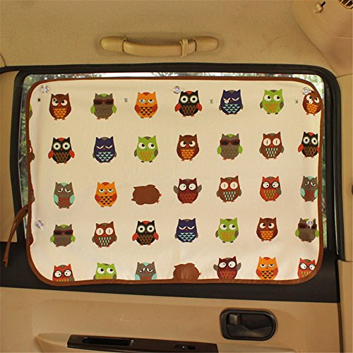 Gobuy Car Side Window Sunshade Protector Curtain for Sun Blocker Blind with Suction Cup for Baby/Children/Pets-Block UV - For Car Sunglasses A Rent