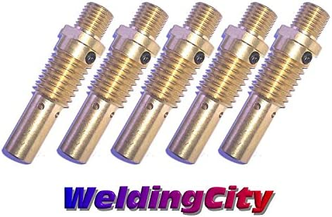 5-pk MIG Welding Gun Gas Diffuser 52 for Lincoln Magnum 200-400A Tweco #2-#4