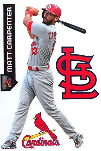 FATHEAD Matt Carpenter St. Louis Cardinals Logo Set Official MLB Vinyl Wall Graphics 17