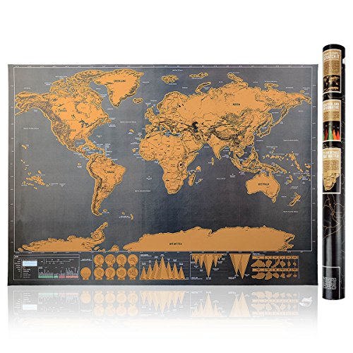 Scratch map world travel mapblack and gold deluxe edition large scratch map world travel mapblack and gold deluxe edition large size 325 inch x 234 inch scratch off places you travel buy online in uae gumiabroncs Image collections