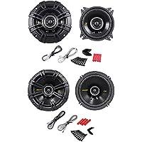 Package: Pair of Kicker 40CS44 4 4-Ohm 2-Way Car Audio Coaxial Speakers Totaling 300 Watt + Kicker 40CS654 6.5 4-Ohm 2-Way Car Audio Coaxial Speakers Totaling 600 Watt