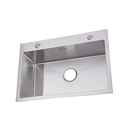 Rettangolo Lavello da cucina sottotop in acciaio inox lavabo per ...