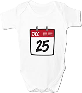Bang Tidy Clothing Drôle Combinaison de bébé pour Filles ou garçons Emoji Calendrier De l'avant