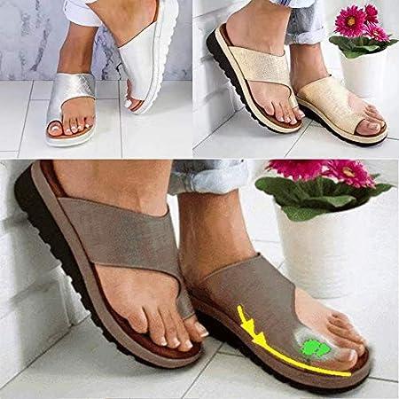 Chaussures en Cuir PU de correcteur doignon Toe Plage Respirante Peep Toe Sandales Occasionnelles Yuanbbo Chaussures de Sandale Confortables pour Femmes