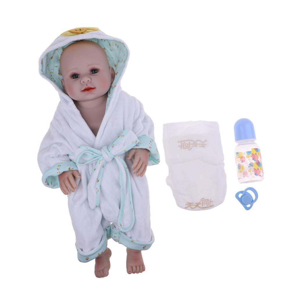 Fenteer 50cm Lebensechte Silikon Vinyl Weichkörper Babypuppe Neugeborenes Baby Puppe mit Kleidung Spielzeug für Kinder ab 18 Monaten - C B07L4BCY1N Babypuppen Berühmter Laden  | Deutschland Shops