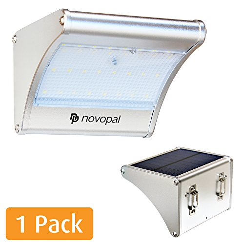 Novopal Solar Lights Outdoor Motion Sensor Waterproof LED Aluminum Solar Lights for outdoors [garden /pathway/ walkway/ landscaping/ Yard/Deck/Christmas] with Super Brightness 450 Lumens (1 pack)
