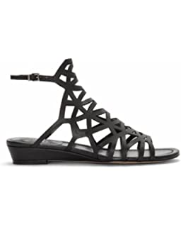7855d3145 Vince Camuto Illana Women s Leather Strappy Slingback Caged Sandal Shoes