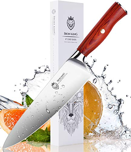 Chef Knife | Forged High Carbon Steel | Sharp Kitchen Knife with Ergonomic Handle | 8 Inch Professional Chef's Knife | Perfect Kitchen Gift for Cooking Lovers and Chefs.