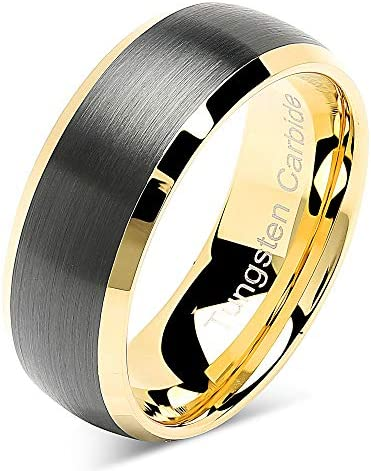100S JEWELRY Tungsten Rings Wedding