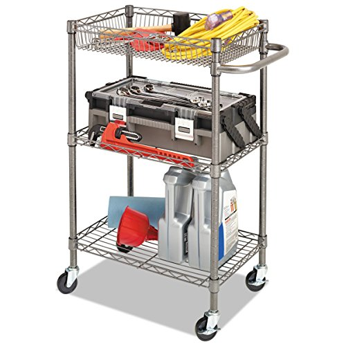 Alera Industrial Kitchen Carts At Lowes Com: Alera 3-Tier Wire Rolling Cart, 3-Tier Wire Rolling Cart