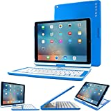 Snugg iPad Pro 12.9 2017/2015 Keyboard, [Blue] Wireless Bluetooth Keyboard Case Cover 360° Degree Rotatable Keyboard for Apple iPad Pro 12.9 2017/2015