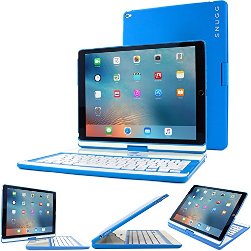 iPad Pro 12.9 2017/2015 Keyboard, Snugg [Blue] Wireless Bluetooth Keyboard Case Cover 360° degree Rotatable Keyboard for Apple iPad Pro 12.9 2017/2015