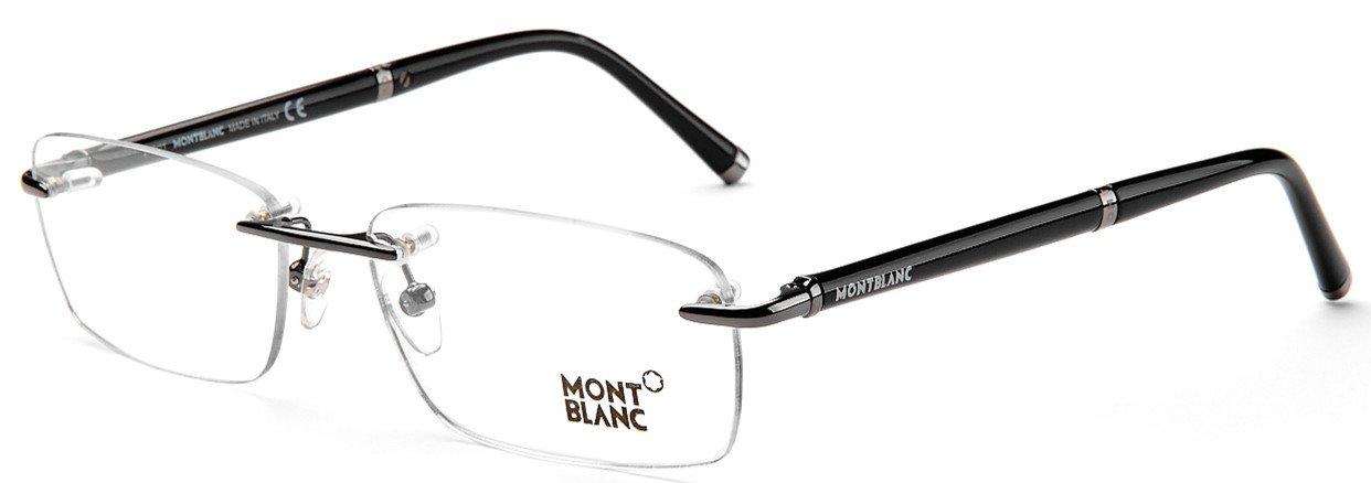 00c90930b2a MontBlanc MB374-008-57 Men s Classic Fashion Rimless Optical Eyewear  Eyeglasses Frames