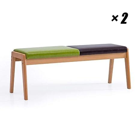 Caiyi Sillones largos y modernos Sillas de comedor de madera ...