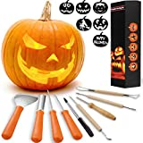 Cheap HOT SELL! 8 Packs Halloween Pumpkin Carving Kits Premium Heavy Duty Stainless Steel Pumpkin Carving Tools Easily Carve Sculpt Halloween Jack-O-Lanterns
