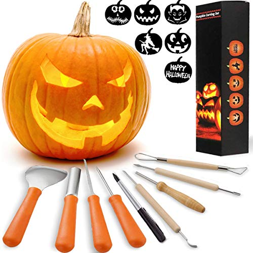 HOT SELL! 8 Packs Halloween Pumpkin Carving Kits Premium Heavy Duty Stainless Steel Pumpkin Carving Tools Easily Carve Sculpt Halloween Jack-O-Lanterns