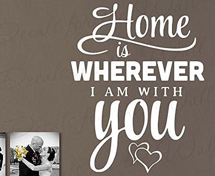 Casa es donde estoy Contigo – Love Mujer marido matrimonio anillos de boda Forever dormitorio Edward