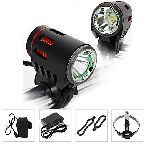Diyueol 2000 Lumens Super Bright CREE XM-L L2 LED Bike Headlight Bicycle Headlamp Flashlight with 6400mAh Battery Pack for Camping, Cycling, Hiking, Riding For Sale