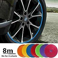Kleurrijke Auto Wiel Sticker Velg Decoratieve Strip Auto Velgen Beschermers Sticker Auto-Accessoires Auto Styling…