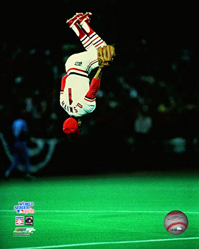 MLB Ozzie Smith St. Louis Cardinals World Series Action Photo (Size: 11