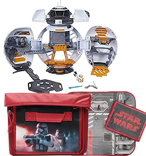 Bundle Includes 2 Items - Playskool Heroes Star Wars Galactic Heroes BB-8 Adventure Base and Star Wars ZipBin Space Case