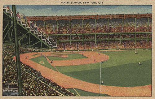 New York, NY - Yankee Stadium During Baseball Game (9x12 Art Print, Wall Decor Travel Poster)