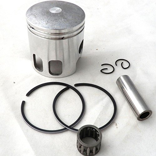 YunShuo Piston w/ Ring Set 47mm 10mm Wrist Pin for 70cc Big Bore Minarelli 1PE 40QMB by YunShuo (Image #1)