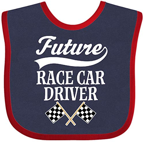 (Inktastic - Future Race Car Driver Racing Baby Bib Navy and Red 2bf79)