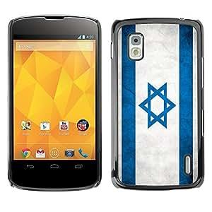Shell-Star ( National Flag Series-Israel ) Snap On Hard Protective Case For LG Google NEXUS 4 / Mako / E960