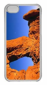 iPhone 5C Case, Personalized Custom Desert Arch 2 for iPhone 5C PC Clear Case