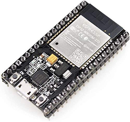 HiLetgo ESP-WROOM-32 ESP32 ESP-32S Development Board 2.4GHz Dual-Mode WiFi + Bluetooth Dual Cores Microcontroller Processor Integrated with Antenna RF AMP Filter AP STA for Arduino IDE