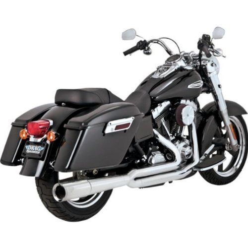 Vance and Hines 2-into-1 Pro Pipe Chrome Exhaust System for Harley Davidson 201 - One Size