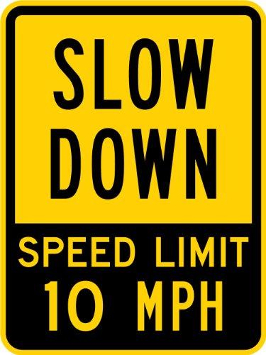 grade reflective sign legend slow - 5