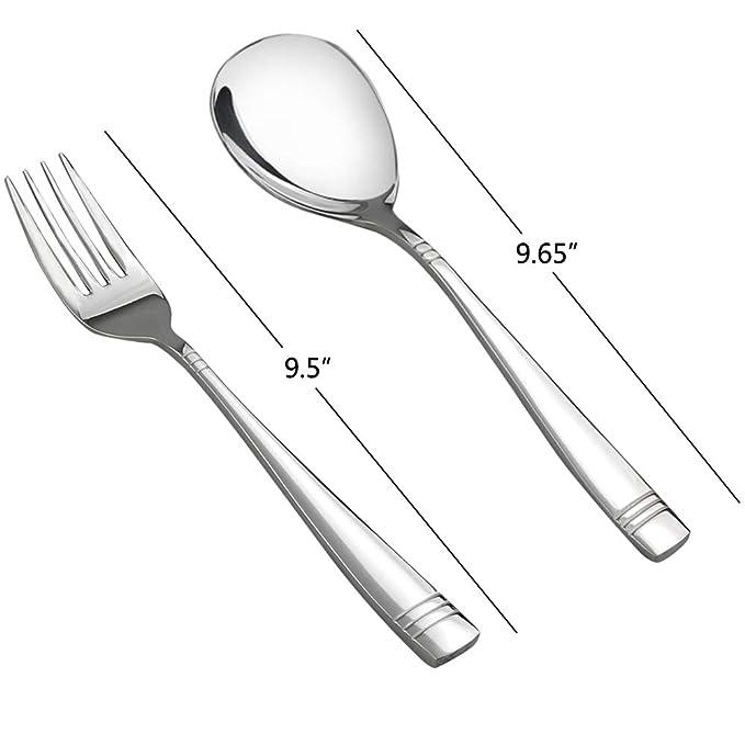 Amazon.com: Obston - Juego de cuchara y tenedor de acero ...