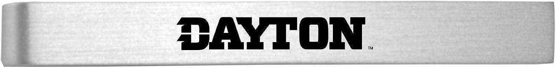 Brushed Metal Tie Clip-Silver University of Dayton