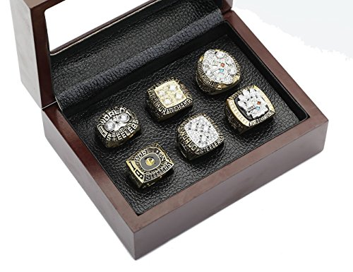 PIT Steelers Championship Rings By Years and Display Box Set (Display Box Set, 11) ()