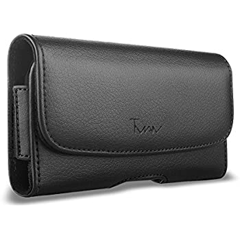 premium selection 03c7b d4ac9 For LG X Charge Case, LG X Charge Leather Pouch; TMAN Leather Case with  Magnetic closure with belt clip and belt loops For Cricket LG X Charge M327  ...