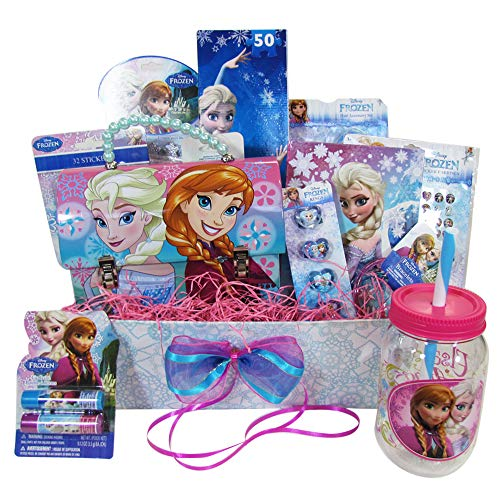 Easter Gift Basket Idea 10 Frozen Themed Items for Girls With Bracelet, Novelties, Tin Purse, Diary, Nail and Hair Accessories ()